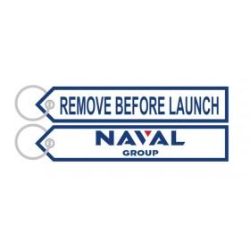 Naval Group White Keyring