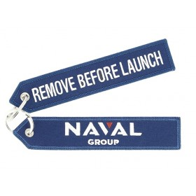 "Porte clés Naval Group ""Remove Before Launch"""