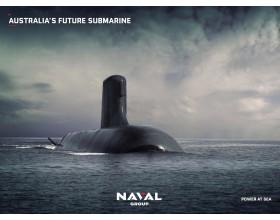 Poster sous marin Australien ciel sombre