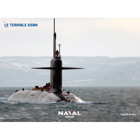 "Poster ""Le Terrible"" en mer"